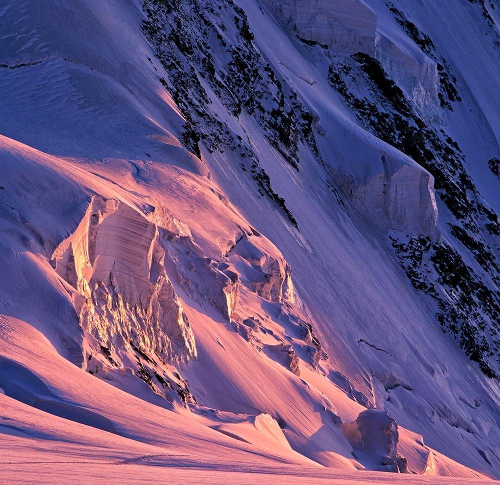 Sunset, Lyskam, Walliské Alpy