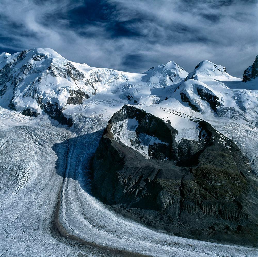 Castor a Polux, Walliské Alpy